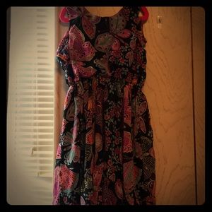 Little girls black butterfly dress